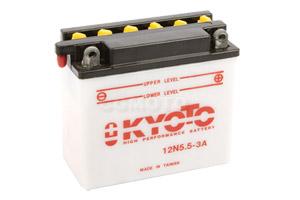 batteria 12N5.5-3A Kyoto : 138mm x 61mm x 131mm