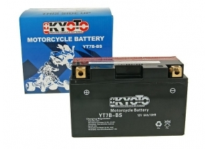 batteria YT7B-BS Kyoto : 150mm x 65mm x 92mm