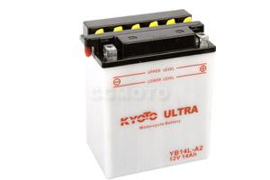 batteria YB14L-A2 Kyoto : 135mm x 91mm x 167mm