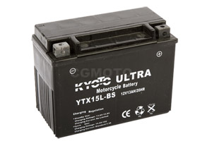 batteria YTX15L-BS Kyoto : 175mm x 87mm x 130mm