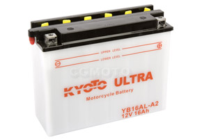 batteria YB16AL-A2 Kyoto : 205mm x 71mm x 164mm