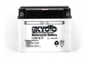 batteria 12N18-3 Kyoto : 206mm x 92mm x 164mm