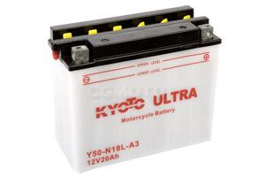 batteria Y50-N18L-A3 Kyoto : 206mm x 91mm x 164mm