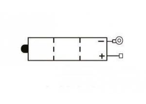batteria 6N4A-4D Yuasa : 58mm x 62mm x 131mm