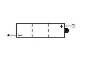 batteria 6N4B-2A-3 Yuasa : 100mm W47mm x 96mm