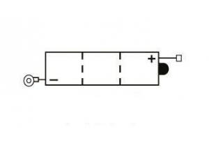 batteria 6N4-2A-5 Yuasa : 71mm x 71mm x 96mm