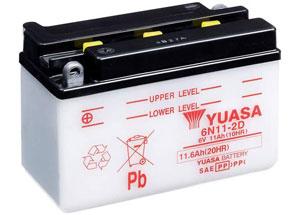 batteria 6N11-2D Yuasa : 150mm x 70mm x 100mm