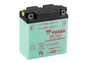 batteria 6N11A-4 Yuasa : 122mm x 62mm x 132mm