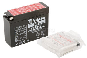 batteria YT4B-BS Yuasa : 114mm x 39mm x 85mm