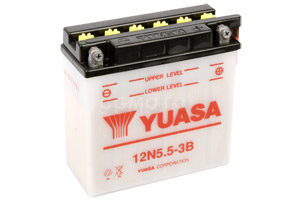batteria 12N5.5-3B Yuasa : 138mm x 61mm x 131mm