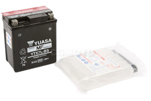 batteria YTX7L-BS Yuasa : 114mm x 71mm x 131mm