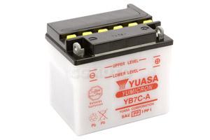 batteria YB7C-A Yuasa : 130mm x 90mm x 114mm