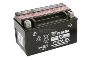 batteria YTX7A-BS Yuasa : 150mm x 87mm x 94mm