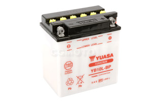 batteria YB10L-BP Yuasa : 136mm x 91mm x 146mm