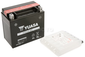 batteria YTX12-BS Yuasa : 150mm x 87mm x 131mm