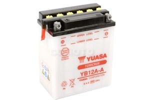 batteria YB12A-A Yuasa : 135mm x 81mm x 161mm