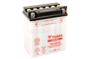 batteria YB12A-B Yuasa : 135mm x 81mm x 161mm