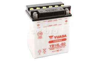 batteria YB14L-B2 Yuasa : 135mm x 91mm x 167mm