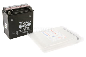 batteria YTX16-BS-1 Yuasa : 150mm x 88mm x 161mm