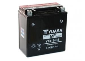 batteria YTX16-BS Yuasa : 150mm x 87mm x 161mm