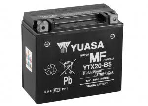 batteria YTX20-BS Yuasa : 175mm x 87mm x 155mm
