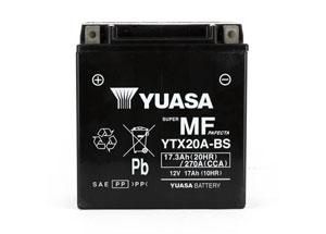 batteria YTX20A-BS Yuasa : 150mm x 87mm x 161mm